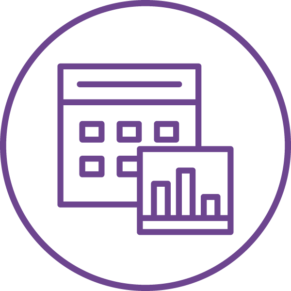 Tracking and Reporting Icon